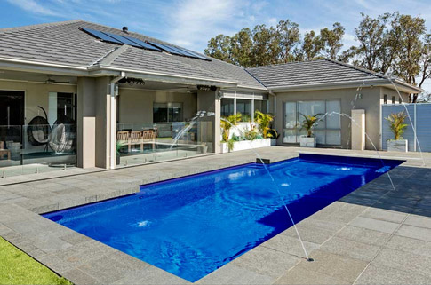 Poolscene Gympie Vivid Fibreglass Pool Colours Royal Blue
